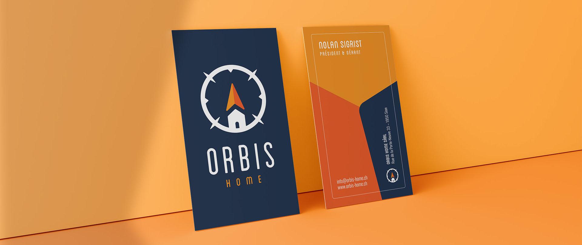 Cartes de visite réalisé pour Orbis Home par TMKL