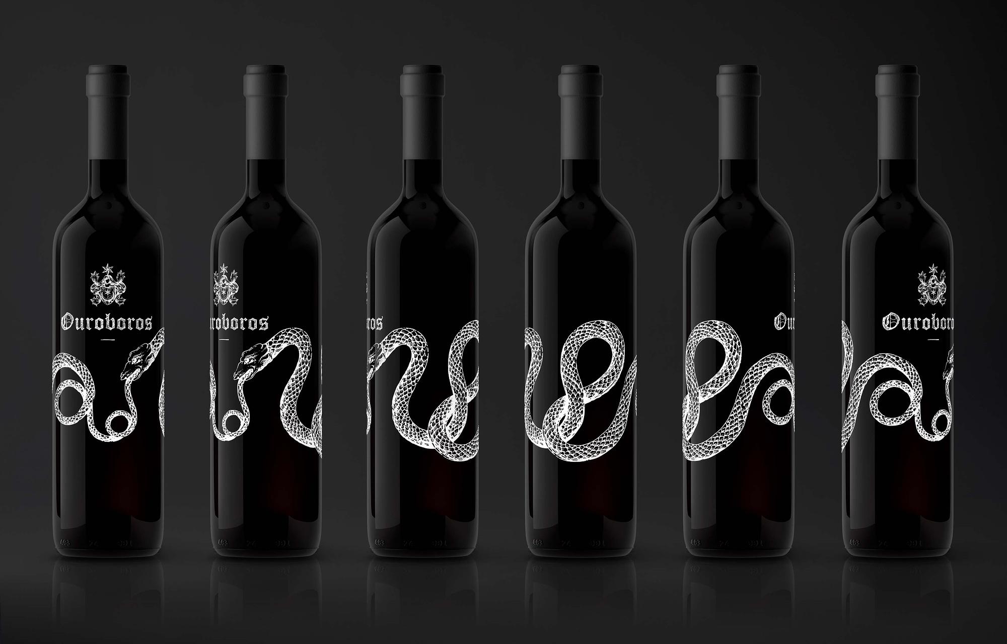 """Étiquette de vin """"Ouroboros"""" pour le Domaine des Rothis réalisé par TMKL en collaboration avec Spinnaker Communication"""